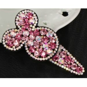 Minnie Mouse Rhinestone Hair Clip - Perfectly Pink
